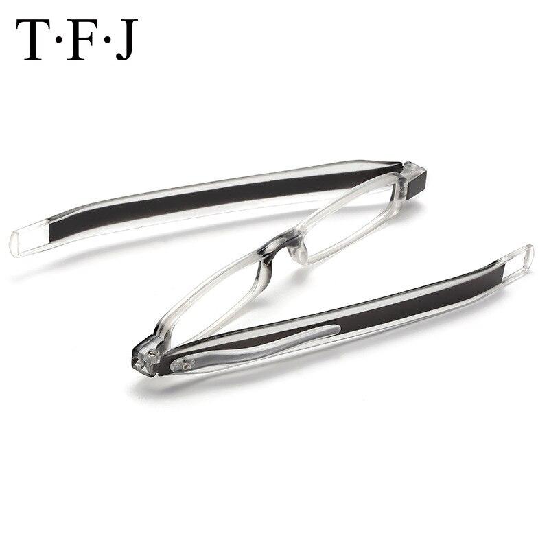 TFJ 360 deg Rotating Folding Men Reading Glasses Women +1.0, 1.5,2.0,2.5,3.0,3.5,4.0 With Box Slim light Diopter Presbyolic