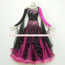 New Competition ballroom Standard dance dress,juvenile dance clothing,stage ballroom dress,Tango Dance Dress,black color