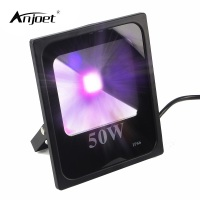ANJOET UV LED Floodlight High Power 50W Ultra Violet UV LED Flood Light IP66 Waterproof (85V 265V AC) for Blacklight Party