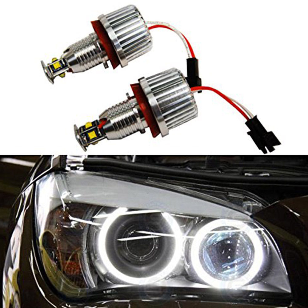 New 2 Pcs 32W Car Angel Eyes Halo Ring Marker Bulbs Xenon Headlights For BMW E60 E61 E90 E92 E70 E71 E82 E89 1/3/5 X5 X6 Z4 1 pair 12w h8 led bulbs angel eyes halo light bulbs marker headlight for bmw e60 e82 e87 e90 e92