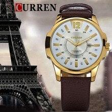 Cuarzo relojes hombres Luxury Brand Reloj de cuero hombres de Reloj ocasional con fecha Reloj para hombre Reloj Relogios Masculinos