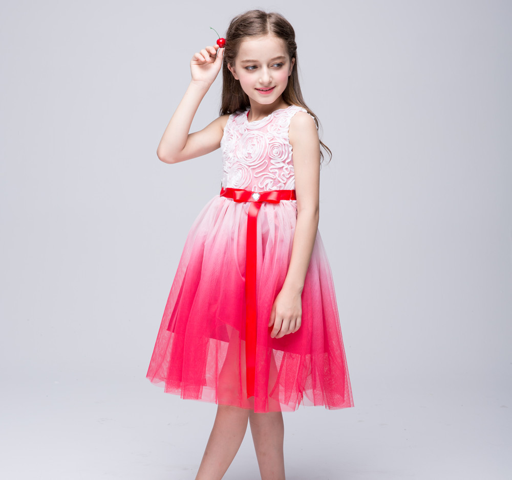 Dance Ball Gown Birthday Wedding Flower Prom Party Girl Dresses Communion Pageant Wedding Easter Kids Wedding Dresses