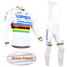 Man Winter Autumn Cycling Jersey Pro Team 2016 Long Sleeve Bike Bicycle Outdoor Sports Fleece Warm Ropa ciclismo maillot
