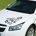 460x270mm 2 Unids Flor y Mariposa Etiqueta Engomada Del Coche Del PVC Impermeable Universal para el Carro Auto