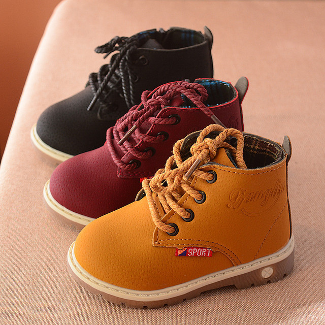 2018 New Autumn Kids boots for Girls Boys Martin Boots boy leisure Shoes  Fashion Soft Boots children shoes 96a856654