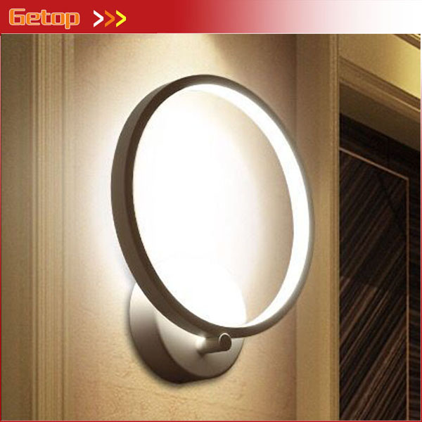 Modern Minimalist Circle LED Bedside Wall Lamp Post Modern Staircase Corridor Bedroom Living Room Restaurant Wall Lamp iminovo simple led wall lamp bedside light aisle modern living room bedroom balcony corridor staircase european creative light