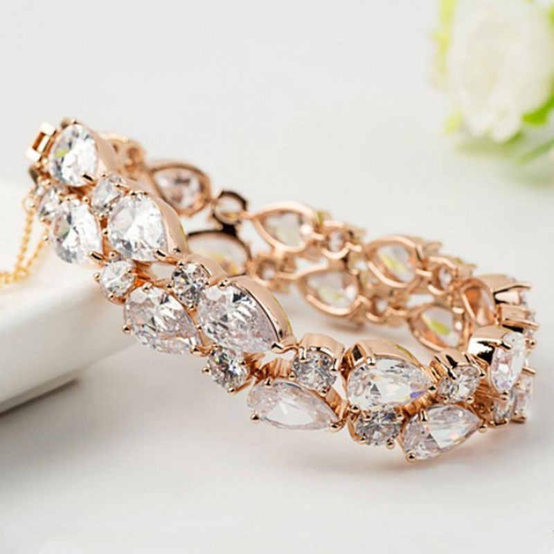 Manxiuni Marke Top Qualität Gold Farbige Charme Perlen Armband Für Frauen Multicolor Kubikzircon Armbänder Armreifen Modeschmuck