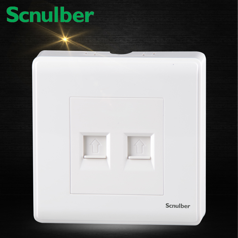 цена на surface mounted TO RJ11 Telephone and RJ45 Internet wall switch Socket Outlet