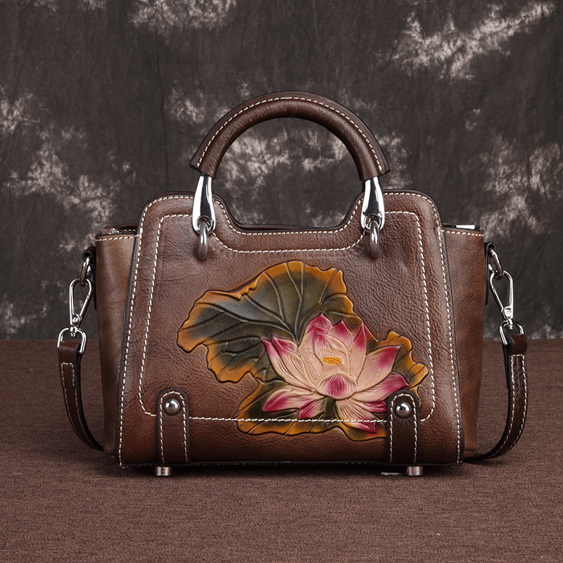 2019 Luxury Women Genuine Leather Handbags Ladies Retro Elegant Shoulder Messenger Bag Cow Leather Handmade Womans Bags2019 Luxury Women Genuine Leather Handbags Ladies Retro Elegant Shoulder Messenger Bag Cow Leather Handmade Womans Bags