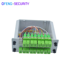 SC APC PLC Splitter 1X16, splitter Fiber Optical Box FTTH with 1X16(China)