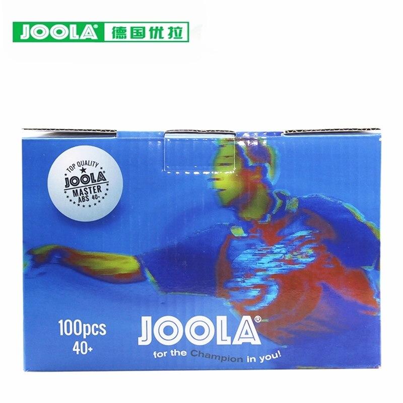100 Balls JOOLA Table Tennis Balls Plastic MASTER Seamed 1 Star Training 40+ ABS New Material Poly Ping Pong Ball Tenis De Mesa