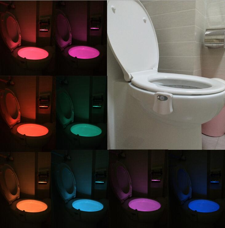 1Pcs PIR Motion Sensor Toilet Seat Novelty LED lamp 8 Colors Auto Change Infrared Induction light Bowl For Bathroom lighting1Pcs PIR Motion Sensor Toilet Seat Novelty LED lamp 8 Colors Auto Change Infrared Induction light Bowl For Bathroom lighting