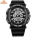 2017 novos relógios homens hoska moda masculina esporte militar relógios de pulso marca de luxo 50 m dive led digital analógico quartz watch hd004