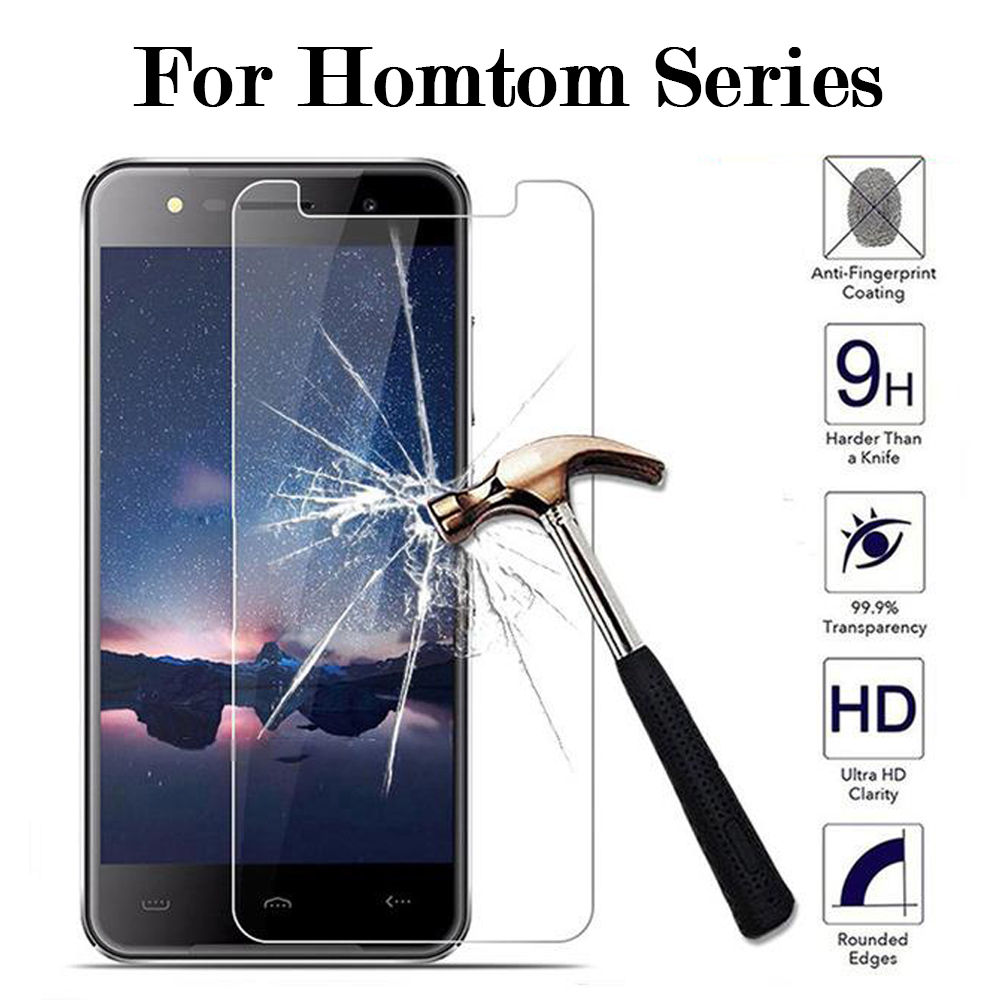 2PCS 9H Tempered Glass for HomTom C1 C2 Lite H10 S12 S7 S8 S16 S17 S99 HT30 HT37 Pro S9 Plus Protective Film Screen Protector(China)