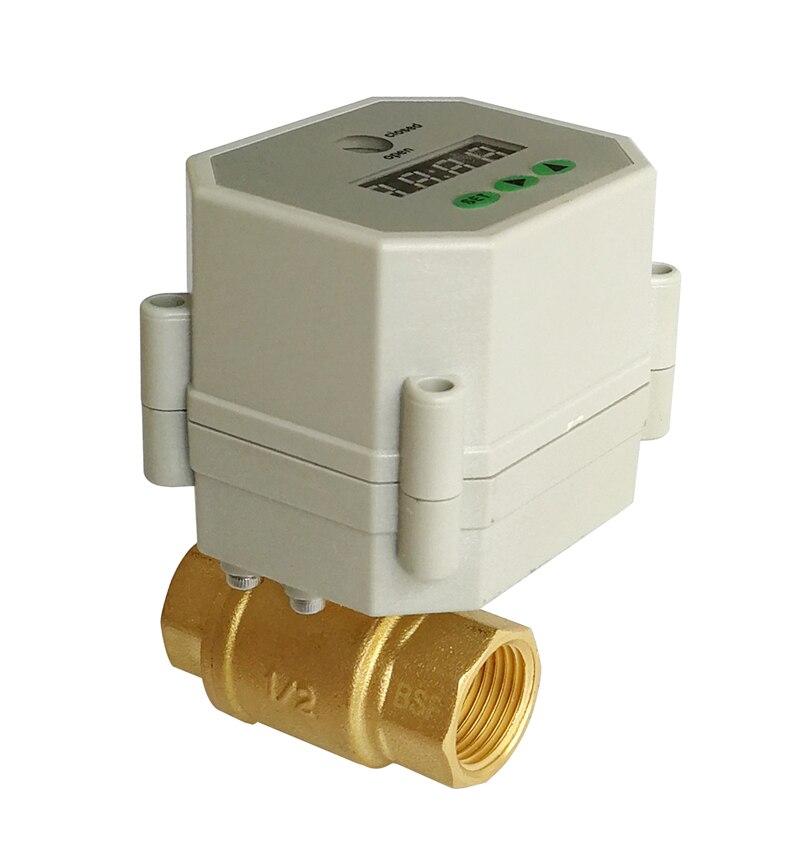 1 2 brass Electric Timer Valve NPT BSP AC DC 9 24V timer electric valve for