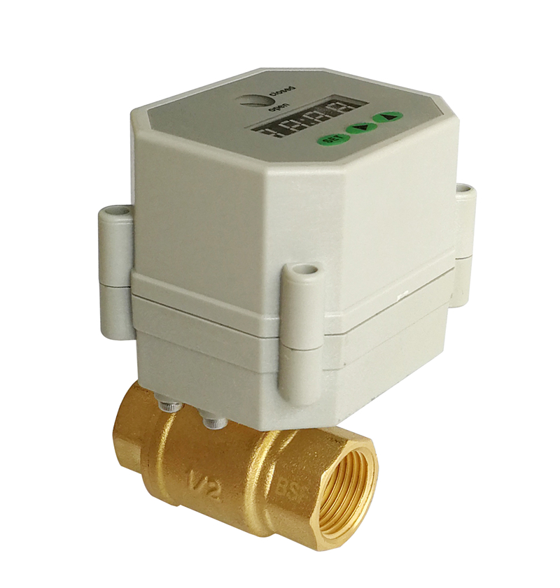 1/2'' brass Electric Timer Valve NPT/BSP, AC/DC 9-24V timer electric valve for garden, Drain water, air pump and water control ac110v 230v bsp npt 1 2 time controlled motorized ball valve for garden air compressor drain water air pump water control