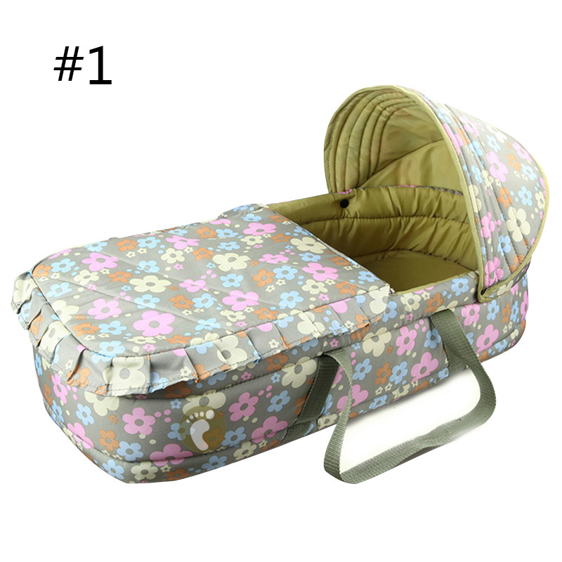 High Quality 0-7 month Baby Bed Bassinet Portable Baby Basket Bed Comfortable Newborn Baby Travel Bed Safety Infant Cradle  цена и фото