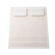 5CM Thickness 7 Zone Natural Latex Mattress 3PC Set Cervical Lumbar Relax Pressure Release Sleeping Bed Mattress With 2PC Pillow
