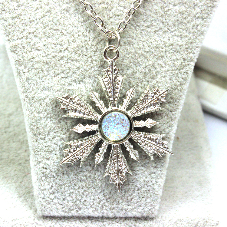crystal snowflake jewellery lisa necklace in angel silver