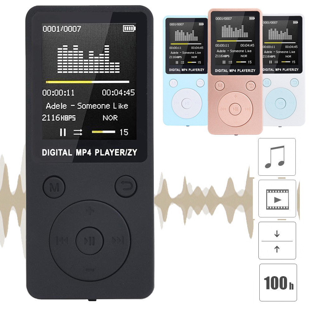 2019 Fashion Portable MP4 Lossless Sound Music Player FM Recorder walkman player mini Support music, radio, recording, 3