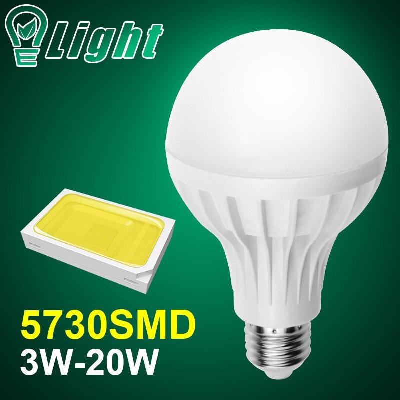 10pcs E14 E27 Led Bulb 5730SMD 3W 5W 7W 9W 12W 15W LED Lamp E27 AC 110V 220V Light Bulb For Home Spotlight Lamps Ampoule Zarovka