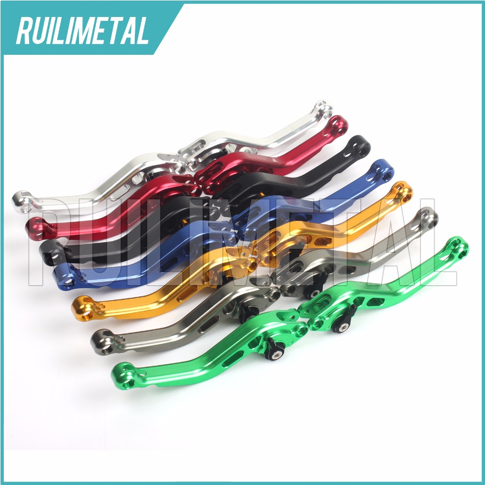 Adjustable Short straight Clutch Brake Levers for MOTO GUZZI Breva 750 Griso Norge 850  L  T GTL 2008 2009 2010 2011 2012 2013 motoo f 16 dc 80 motorcycle brake clutch levers for moto guzzi breva 1100 norge 1200 gt8v 1200 sport caponord etv1000