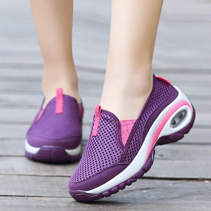 Goedkope Schoenen Vrouw Outdoor Top Vest Sneakers Vrouwen Wiggen Casual Schoenen Vrouwen Tenis Feminino Air Demping Ademend Zapatos Mujer Geschikt Voor Mannen, Vrouwen En Kinderen
