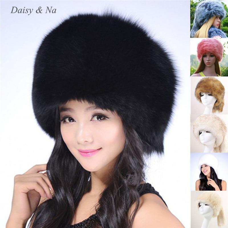 Faux Kosaken Damen Winter Russische Frauen Kappe Warme Mütze nOPk0w