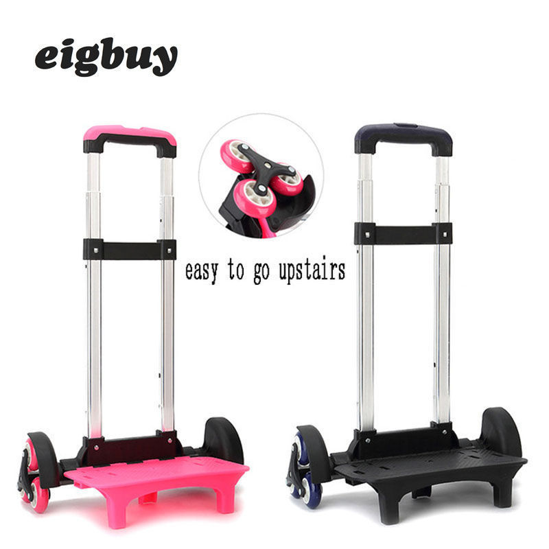 Chariot enfant pour sac à dos et sac d'école bagage pour enfants 2/6 roues tige extensible haute fonction Trolly accessoires de voyage