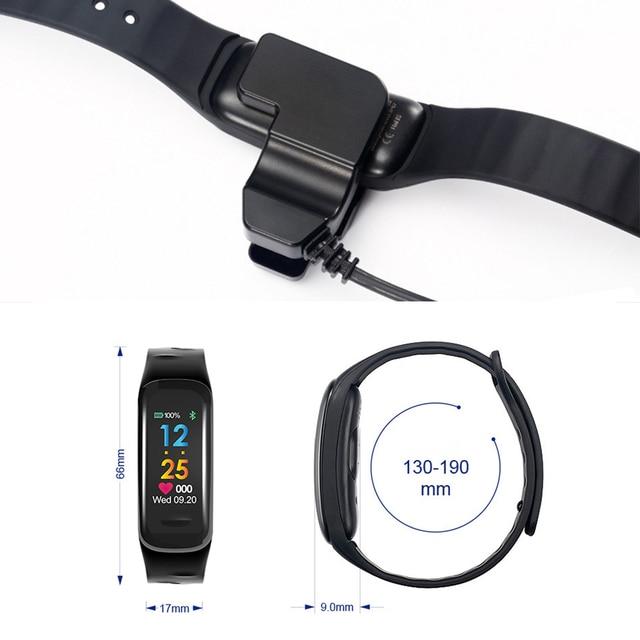2018 Men Women Sport Smart Bracelet Watch Bluetooth Clock Heart Rate Blood Pressure oxygen Sleep Monitor Pedometer Smartwatch
