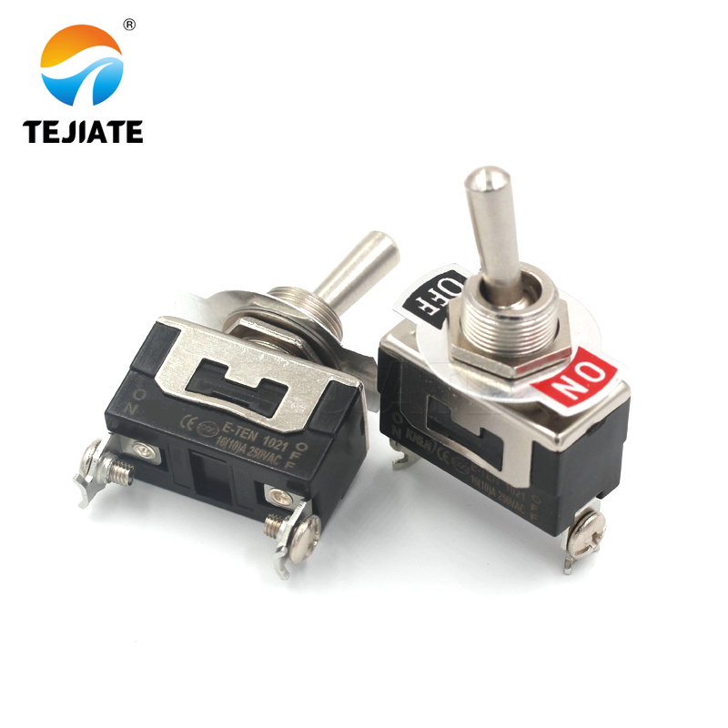 Heavy Duty SPST 2Pin 2 Terminal 10A AC 250V ON/OFF Rocker Toggle Switch E-TEN1021