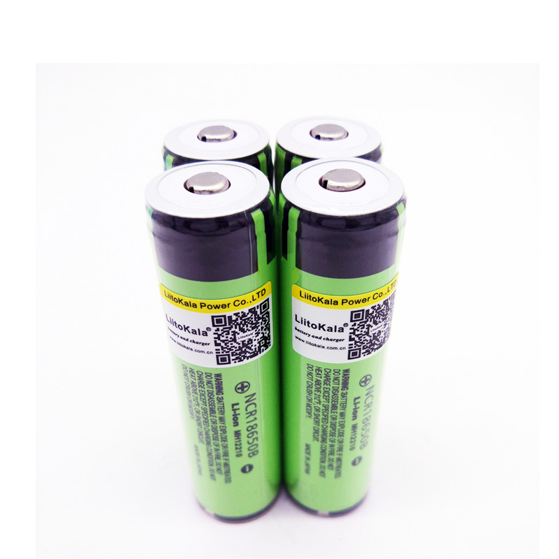 4pcs New protected Liitokala For Panasonic 18650 3400mAh battery NCR18650B with original new PCB 3.7V