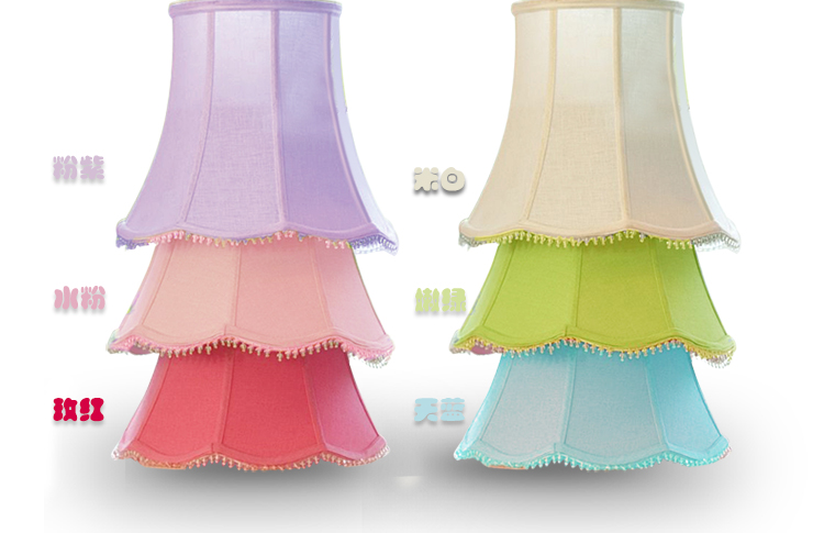 Cotton Cloth Acrylic Crystal Lampshade Cover For Table