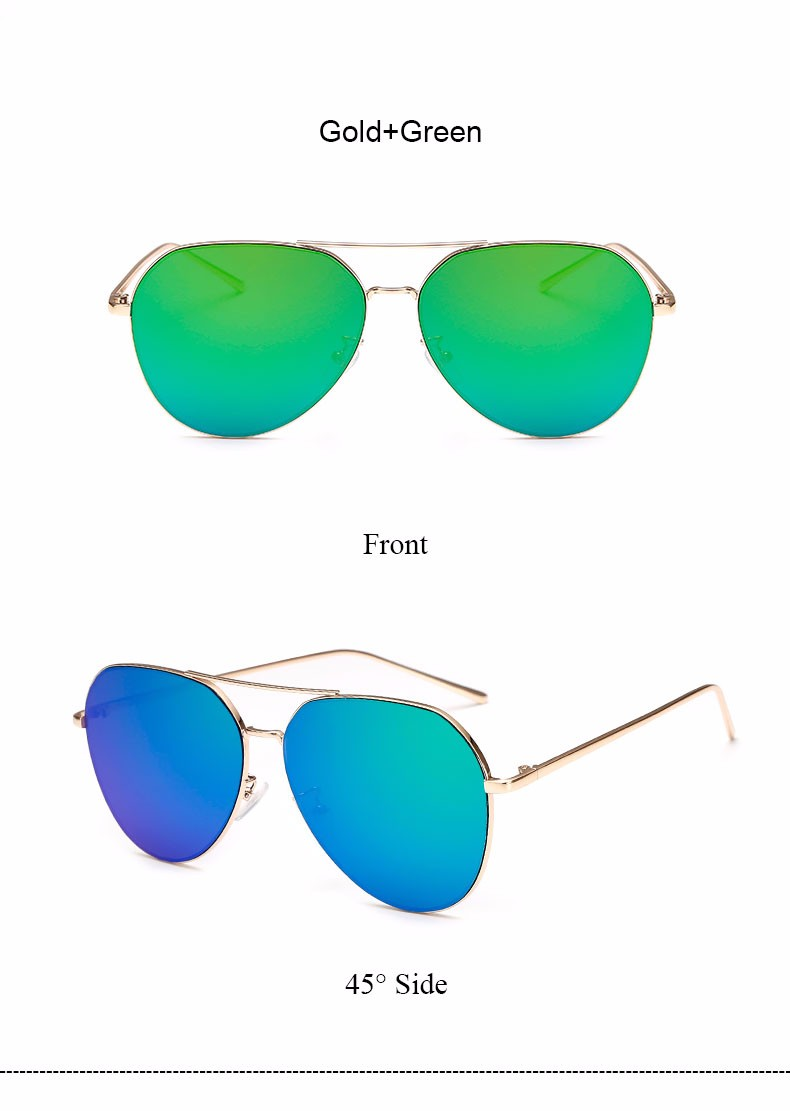 HTB1jxEyNFXXXXa XpXXq6xXFXXXq - Flat Lens Mirror aviation Sunglasses Women Stylish Sun Glasses PTC 296