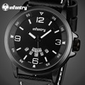 Infantry 2017 mens relógios top marca de luxo relógio de quartzo de couro à prova d' água dos homens do esporte militar relógios relogio masculino