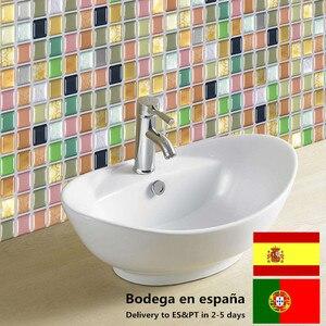 10 шт./лот, 3D Мозаика, водонепроницаемые наклейки для ванной, кухни, самоклеющиеся, для дома, стены, ремонт плитки, кирпичные обои