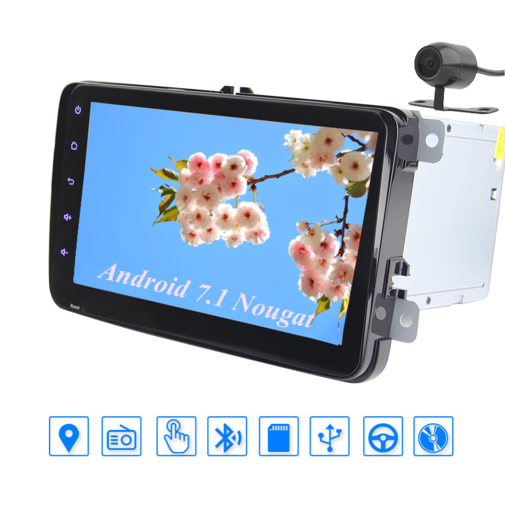 Eincar Android 7.1 GPS Navigation Stereo Double 2 Din In Dash Multimedia Player 8 Head Unit 1080P Video SWC Bluetooth USD SD