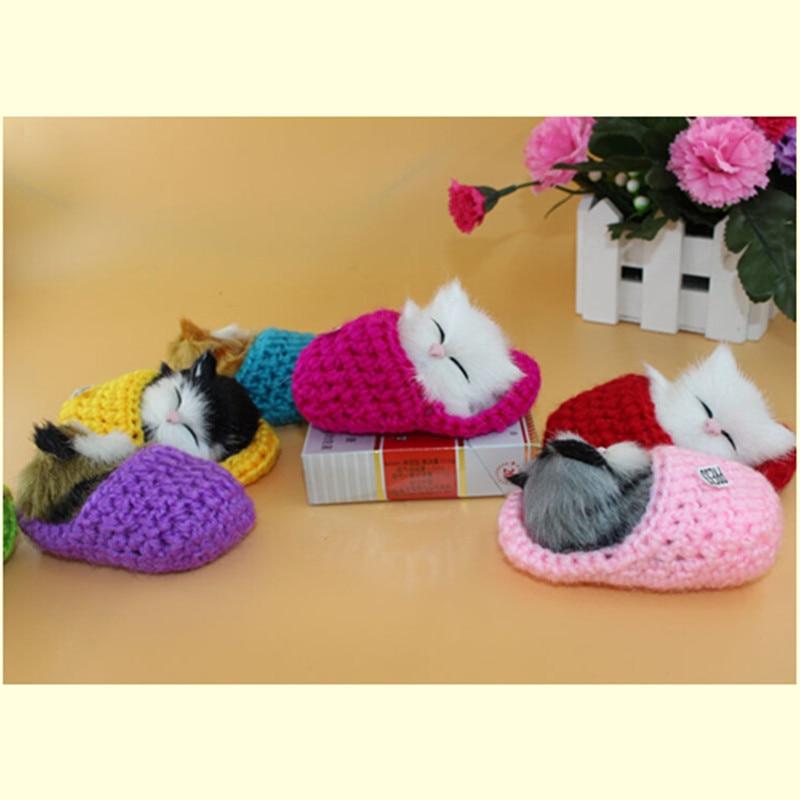 süni pişik oyuncağı, yatmış kat mini pet oyuncaq pişik, yaraşıqlı kittens amcıq pişik, qarışıqlıq yoxdur, uşaq qızları üçün əyləncəli şirin kukla hədiyyə