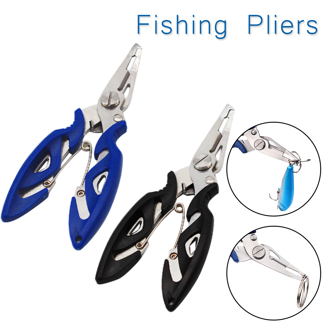 Details about  /Fishing Plier Scissor Braid Line Lure Cutter Hook Remover Tackle Tool Cutting Fi