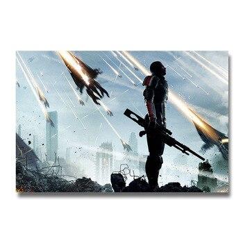 Плакат гобелен Mass Effect шелк