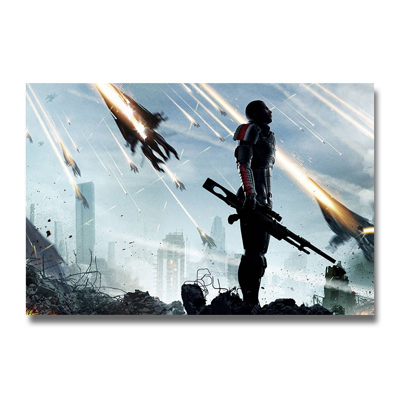Mass Effect 2 3 4 Game Silk Poster Wall Art Print 12x18 24x16 inch Decorative Pictures Wallpaper Living Room Decoration 007(China)