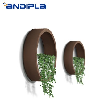Creative Wall Vase Hanging Vase Basket Succulent Flower Plant Stone Holder Iron Art Solid Color Bonsai Home Decoration Crafts