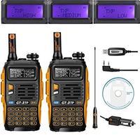 2 PCS Baofeng GT 3TP MarkIII TP 1/4/8Watt High Power Dual Band 2M/70cm Ham Two Way Radio Walkie Talkie with Programming Cable/CD