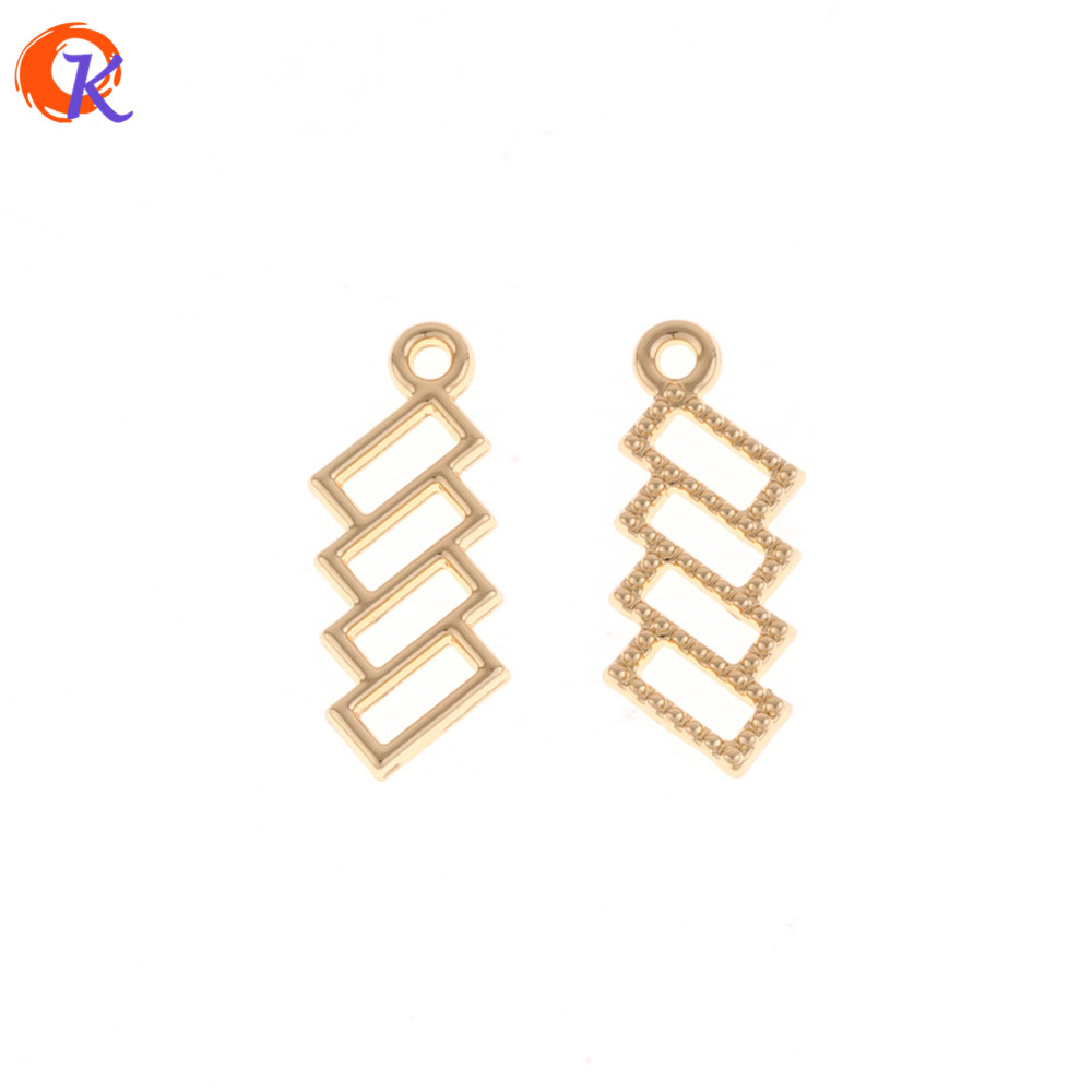 Cordial Design 100Pcs 9*23MM Jewelry Accessories/Gold Hollow Square Shape/DIY/Earrings Base Making/Hand Made/Earring Findings