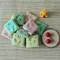 R1477 Nicole 12 Cavités Carré Forme Pain À La Main Savon Silicone Moule de Bonbons Au Chocolat Moules