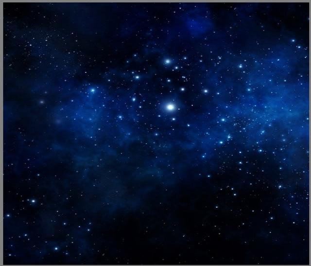 5x7ft Blu Scuro Spazio Cielo Stellato Stelle Universo Personalizzato
