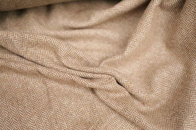 Japan Original Wool Double-Sided Herringbone Fabric / Woolen Cashmere Coat Jacket Fabric