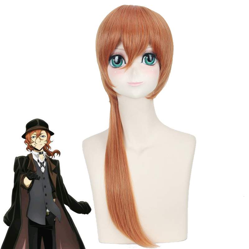 Anime Bungo Stray Dogs Chuya Nakahara Chuuya wig Cosplay Costume Men & Women Hair Halloween Party wigs