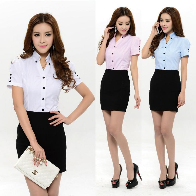 New 2015 summer formal women skirt suits work wear sets for Office uniform design 2016