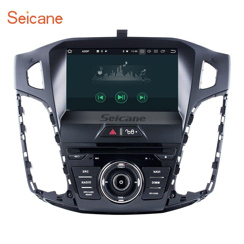 Seicane Android 8.0 DVD de voiture Radio GPS Système de Navigation pour 2011 2012 2013 Ford focus avec Miroir lien Bluetooth OBD2 DVR